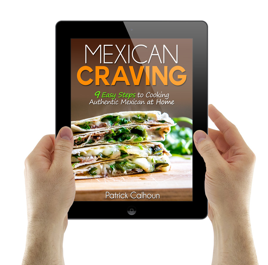 mexican craving cover with ipad being held