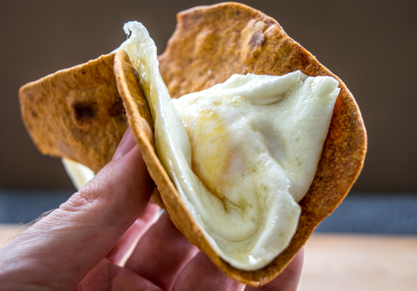 chipotle flavored tortilla with egg snack