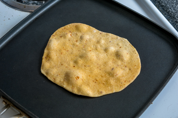 cooking chipotle flavored flour tortilla