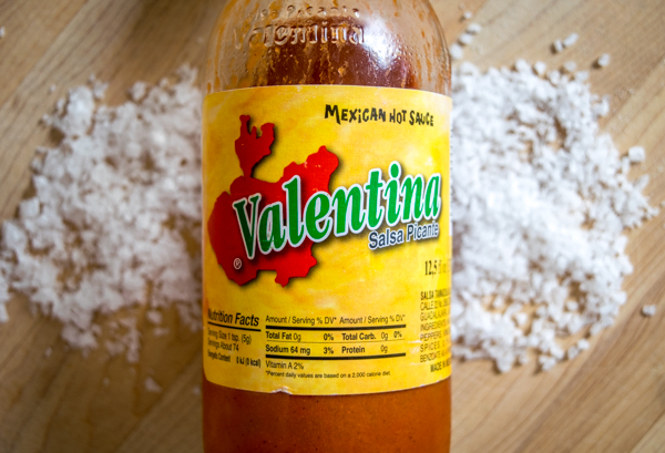 Flavored salts are an ingenious way to sneak in some extra flavor with your regular dose of seasoning. This easy-to-make Valentina salt works wonders on eggs, taquitos, and other Mexican dishes. mexicanplease.com