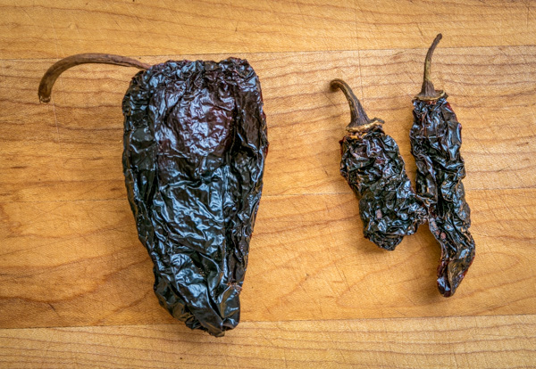 ancho and morita dried chili peppers