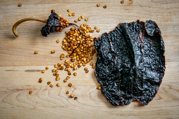 ancho pepper deseeded