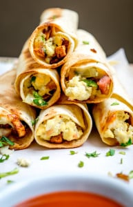 Baked Mexican Breakfast Taquitos