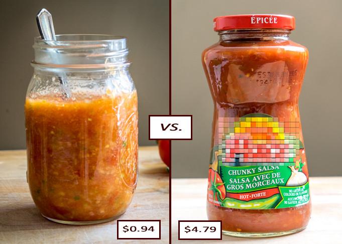 cost argument homemade salsa price comparison