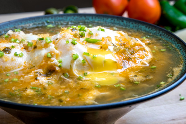 If you've never had eggs poached in homemade salsa before then wait no longer! You simply cannot beat the flavor of these Huevos Ahogados. So good! mexicanplease.com