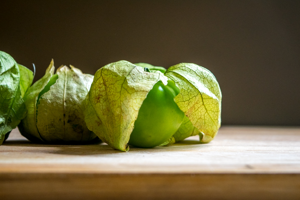 green tomatillos beauty shot