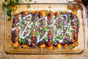 Ancho Chicken Enchiladas