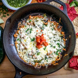 Queso Fundido Melted Cheese Dip | mexicanplease.com