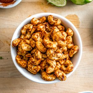 Chili Lime Peanuts Cacahuates Enchilados mexicanplease.com