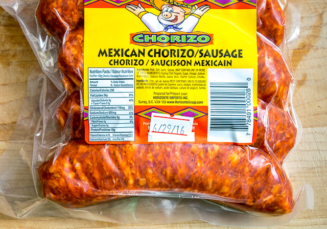 Mexican chorizo can be hard to find but the reddish tint usually gives ...