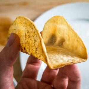 Homemade Baked Taco Shells mexicanplease.com