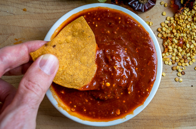 This Cascabel Chile Salsa limits the other ingredients so that the ...