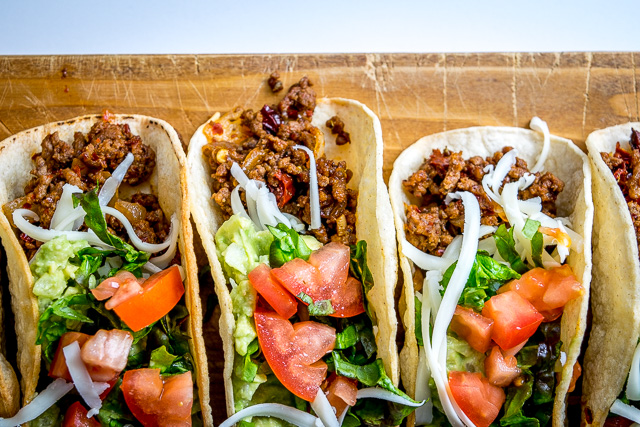 Classic Ground Beef Hardshell Tacos mexicanplease.com