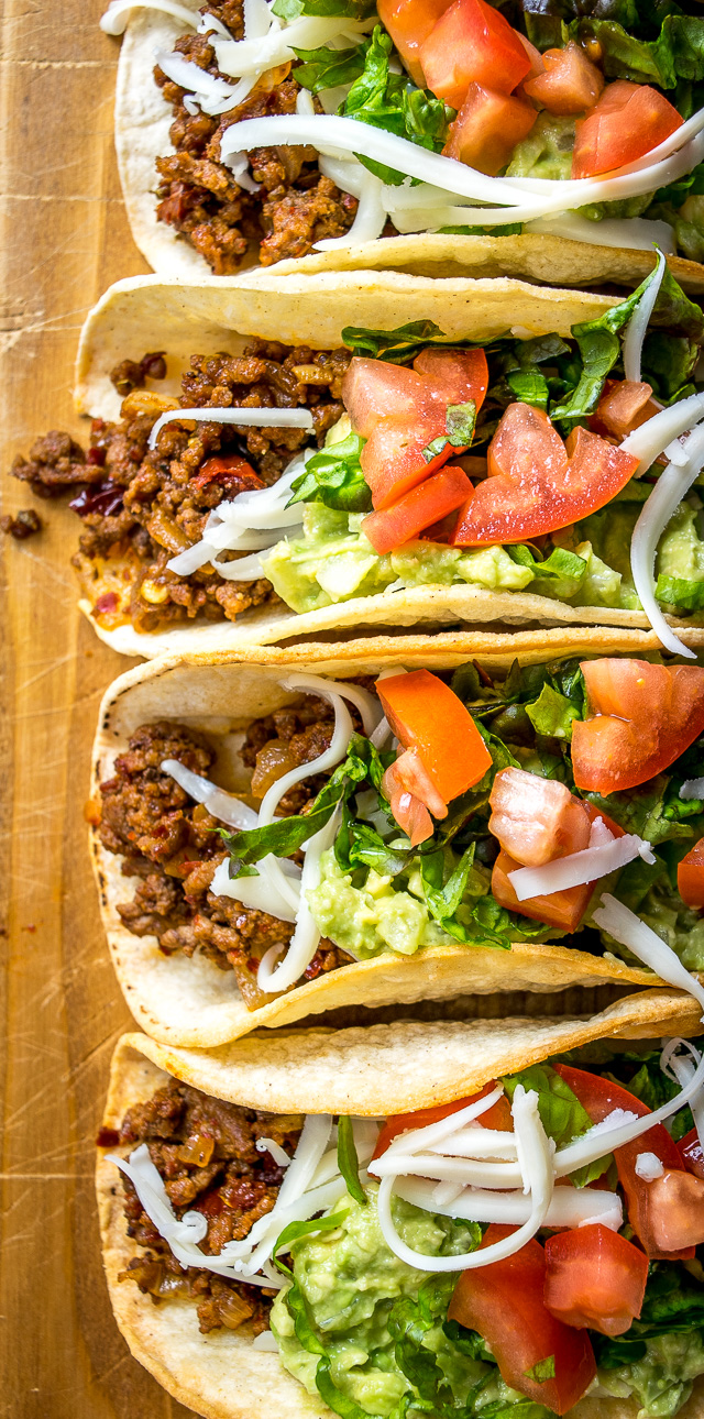 No mystery taco seasoning pack here! These Classic Ground Beef Tacos use homemade seasoning loaded with chipotles in adobo. Rich, full flavor. So good! mexicanplease.com