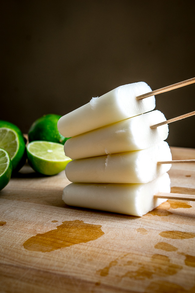 Add a bit of yogurt to these Classic Lime Paletas and you end up with some creamy, heavenly, delicious popsicles. So good!! mexicanplease.com