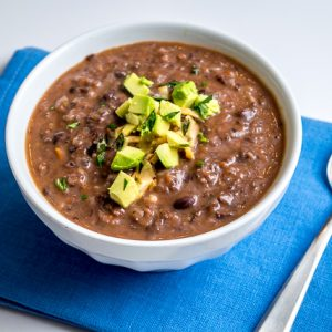 This Mexican Black Bean Soup has incredible flavor despite letting the beans do most of the work. So good! mexicanplease.com
