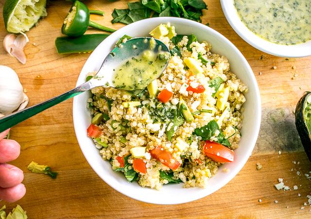 Quinoa Avocado Salad with Lime-Cilantro Dressing   Mexican Please