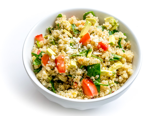 This Quinoa Avocado Salad is ridiculously healthy and tastes great on its own. Add in some Lime Cilantro Dressing and it becomes a keeper!! Buen Provecho. mexicanplease.com