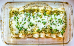 Enchiladas Suizas — Chicken Enchiladas with Creamy Green Sauce