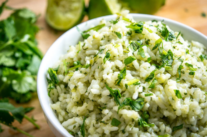 By keeping just a few ingredients on hand you'll always have the option of whipping up this light, effervescent Lime Cilantro Rice. Works well in burrito bowls but also tastes great on its own! mexicanplease.com