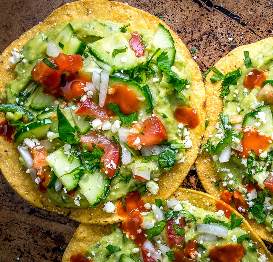Avocado Hummus Tostadas