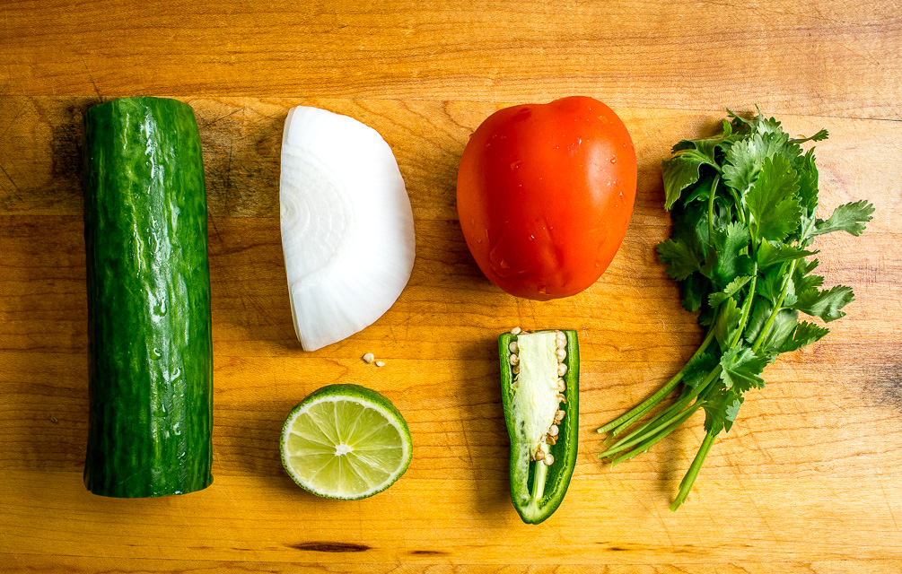Cucumber Pico de Gallo ingredients