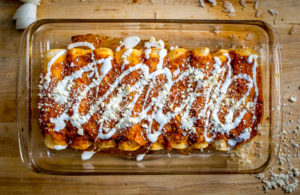 Easy Red Sauce Enchiladas