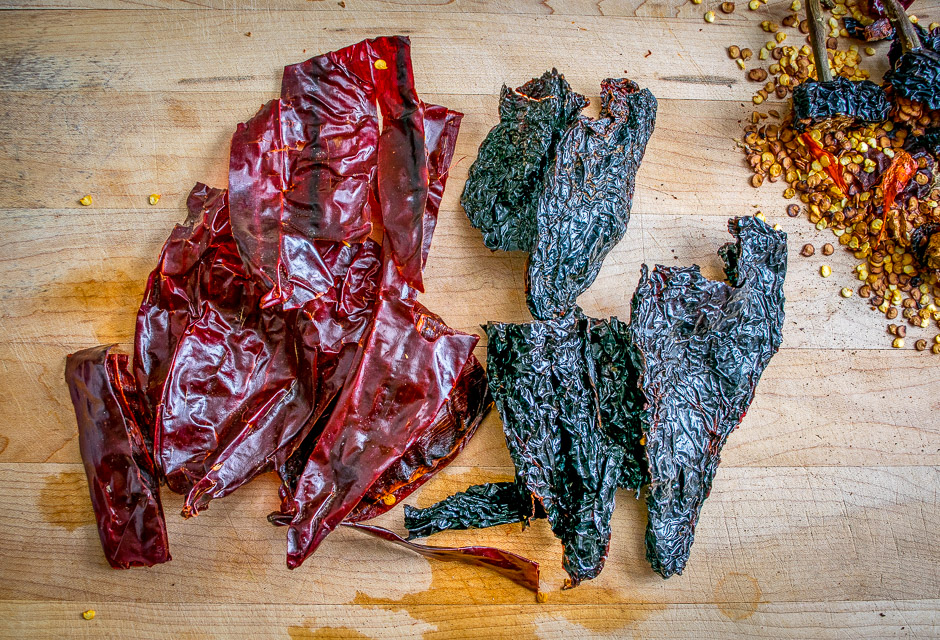 Ancho and New Mexican dried chilis create a delicious Colorado Sauce that's served up taco style with chipotle infused refried beans and grilled chicken. So good! mexicanplease.com