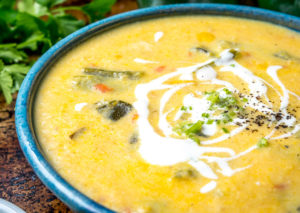 Corn and Poblano Soup