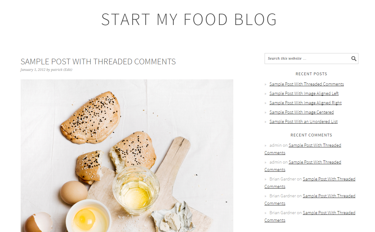 how to start a food blog foodie pro theme