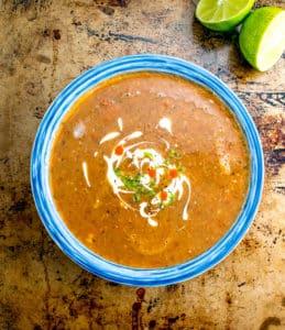 Pinto Bean Soup — Sopa Tarasca