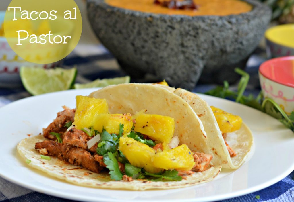 tacos al pastor by my latina table