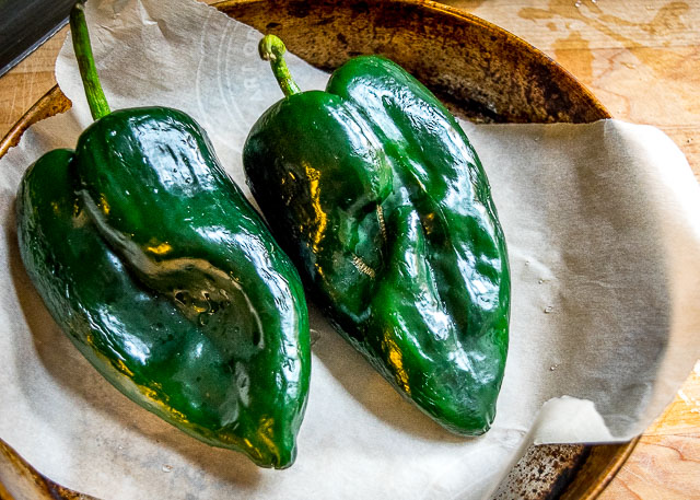 Roasted poblano peppers are the key to this authentic Mexican rice. I've also been adding a handful of spinach to it lately. So good! mexicanplease.com