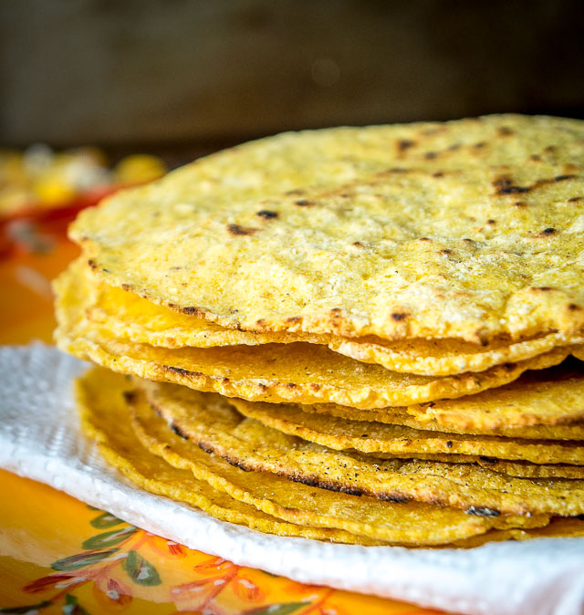 Corn Tortillas Using Homemade Masa Dough Mexican Please