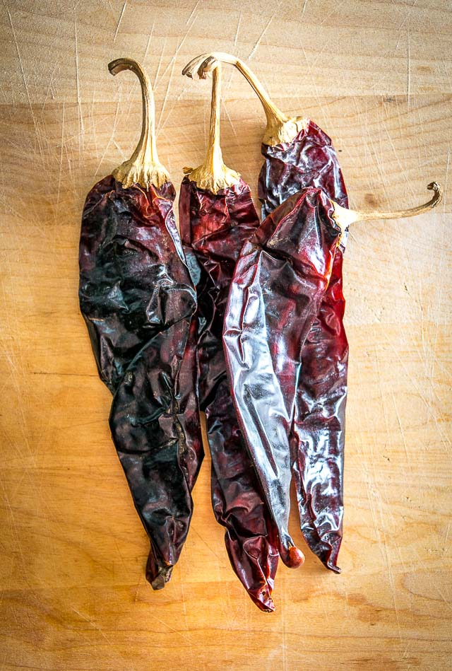 Dried Guajillo chiles have fruity undertones and are a great all purpose Mexican dried chili pepper.