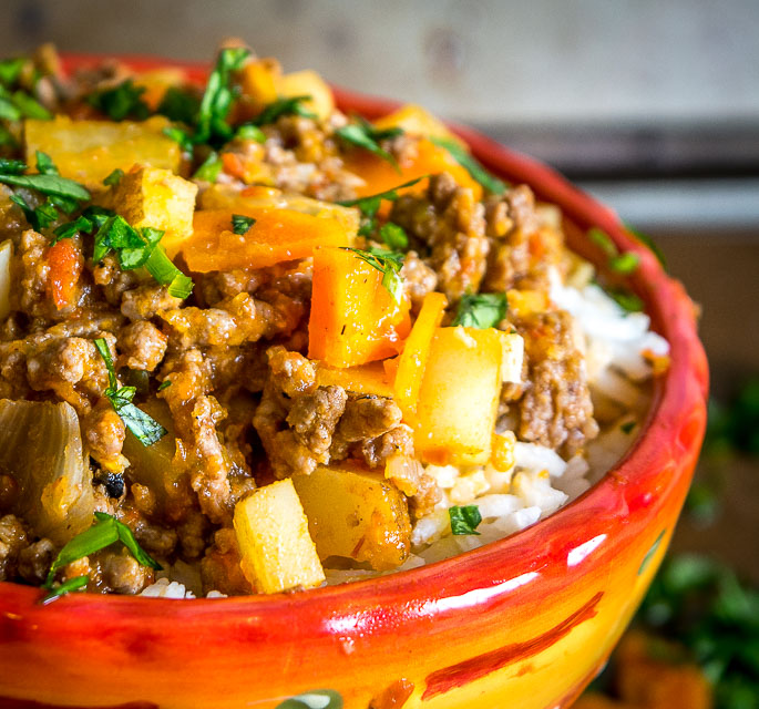 This easy to make Mexican Picadillo is a classic meat and potatoes dish bursting with flavor and spice. It can be eaten straight out of the pan but it also works good in tacos, burritos, and empanadas. So good! mexicanplease.com
