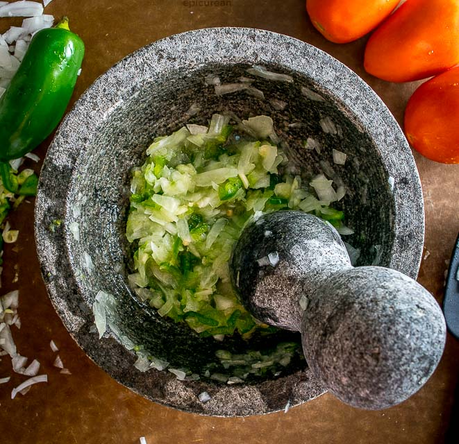 You might be surprised the first time you try salsa made in a molcajete. Crushing the veggies releases additional oils and creates an explosion of flavor that traditional salsas don't have. So good! mexicanplease.com