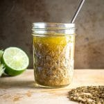 This is a super easy salad dressing to make at home. You'll definitely get an upgrade if you toast the cumin seeds first. We also added some jalapeno for a whisper of heat. So good! mexicanplease.com