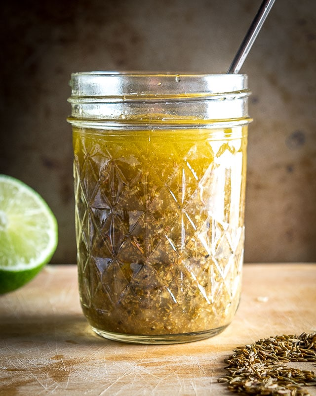 This toasted cumin lime vinaigrette is a super easy salad dressing to make at home. You'll get an upgrade if you toast the cumin seeds first. So good! mexicanplease.com