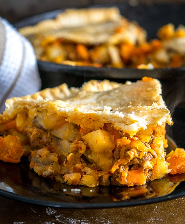 Beef Picadillo Skillet Pot Pie | Mexican Please