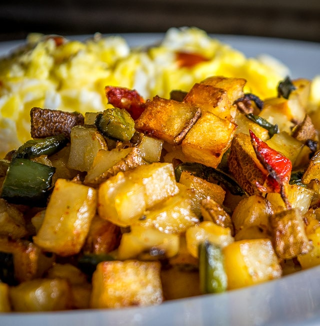 Despite being hands off these Poblano Breakfast Potatoes have incredible flavor. Chop 'em up, throw 'em in the oven, and 30-40 minutes later breakfast is served. So good! mexicanplease.com