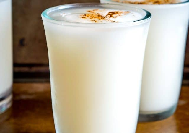 Horchata is one of Mexico's most common agua frescas: an easy-to-make rice flavored drink that offers up all sorts of great combos. Lately I've been adding coconut milk to it -- yum! mexicanplease.com