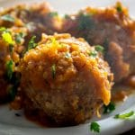 Here's a great recipe for Albondigas -- Mexican Meatballs simmered in a delicious tomato sauce. Fresh mint inside the meatballs really livens them up! mexicanplease.com