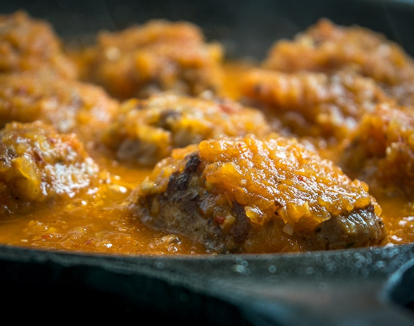 Here's a great recipe for some Albondigas -- Mexican Meatballs simmered in a delicious tomato sauce. Fresh mint inside the meatballs really livens them up! mexicanplease.com