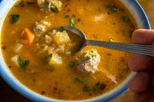 Here's an easy recipe for Albondigas Soup. I used all beef in this version but you could easily use pork or turkey. So good! mexicanplease.com