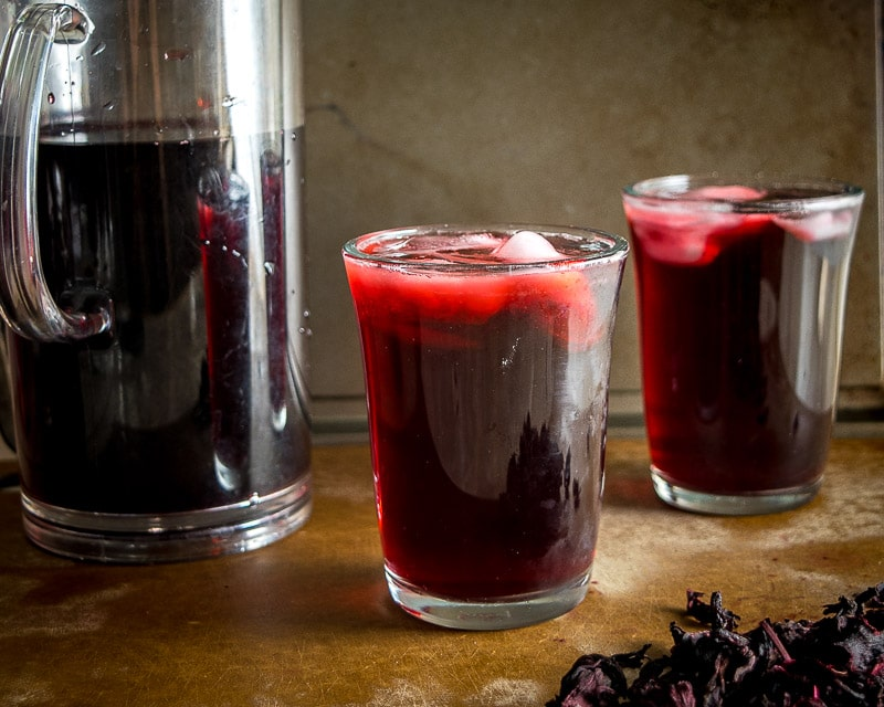 Agua de Jamaica is one of Mexico's most popular agua frescas. This version uses less sugar but feel free to sweeten it up if you want to. So good! mexicanplease.com