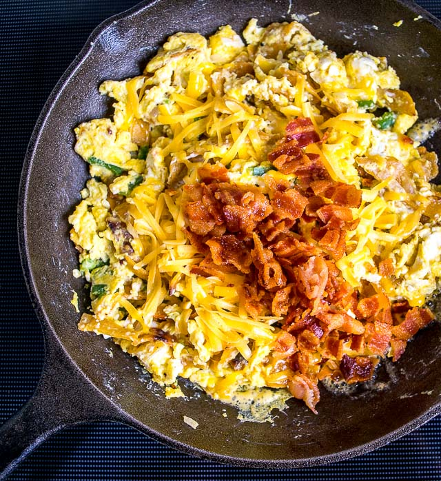 adding bacon to migas