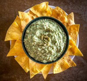 Keep some pepitas on hand and you'll always be able to whip up this quick, satisfying spread. I like it best when it's fiery and loaded with lime flavor -- so good! mexicanplease,com