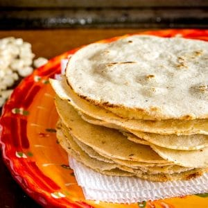 Here's the recipe for a recent batch of homemade corn tortillas I made using some White Olotillo Corn. I used a food processor to grind the corn down and added in some Masa Harina to get the right consistency. mexicanplease.com