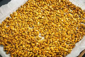 Spicy Roasted Pepitas (Pumpkin Seeds)